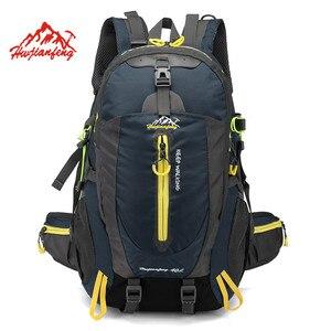 Image 1 - Su geçirmez tırmanma sırt çantası sırt çantası 40L açık spor çanta seyahat sırt çantası kamp yürüyüş sırt çantası kadın Trekking çantası erkekler için