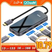 Qgeem Usb C Para Macbook Pro Multi Hub Usb 3,1 De Tipo C 3,0 Hub Hdmi Pd Adaptador Para Ipad pro Otg De Carga Del Deler