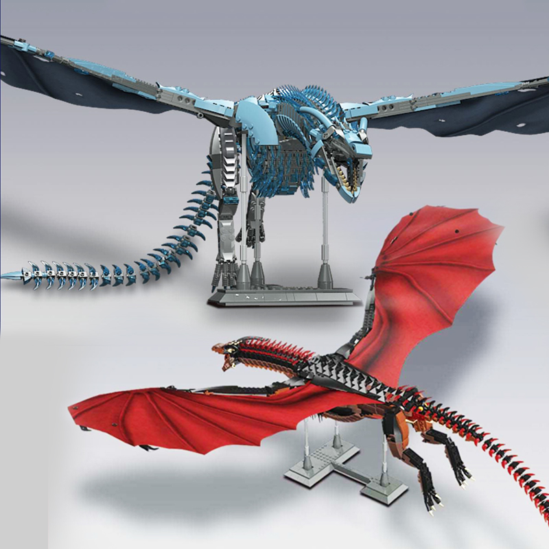 2020 New Presale Game Thrones Dragon Viserion Black Death Balerion Action Figures Building Blocks Collectible Toys For Gift