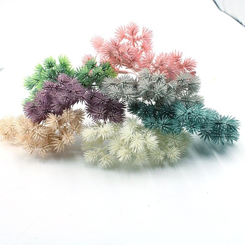 6 штук искусственных цветов, cedar Цветочные Свадебные вечерние украшения, высокое качество, DIY рождественские украшения, дешевые аксессуары