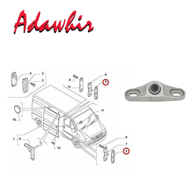 CUHAWUDBA 1358687080 Lucchetto Guida per Localizzatore Porta Scorrevole per Auto 2 Pezzi per Ducato per Boxer per Jumper 1994-2012