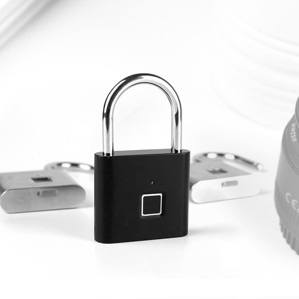 USB Rechargeable and Keyless Smart Fingerprint Padlock for Luggage and Cabinet with Anti-Theft Security 16