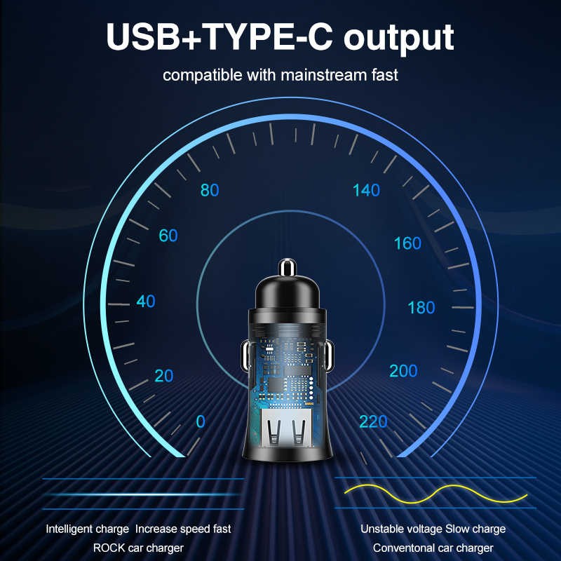 32W Supercharge USB Car Charger Dual USB Quick Charge 4.0 3.0 For Samsung Huawei AFC SCP Adapter Metal Fast Charging Car-Charger