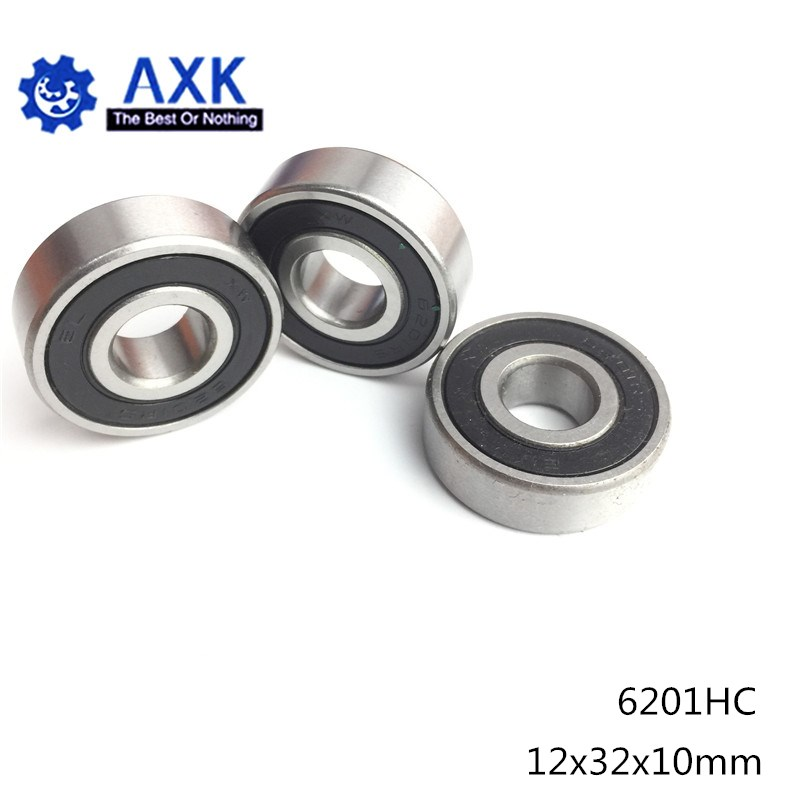 6201 Hybrid Ceramic Bearing 12*32*10 mm ABEC-1 ( 1 PC) Industry Motor Spindle 6201HC Hybrids Si3N4 Ball Bearings 3NC <font><b>6201RS</b></font> image