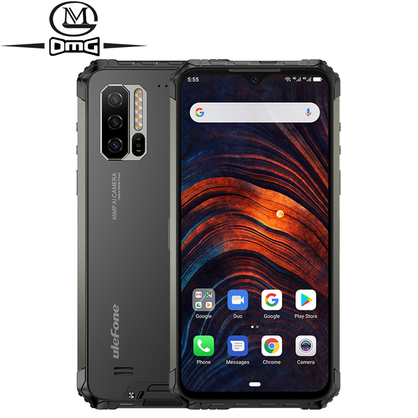 Ulefone Armor 7 8 Гб 128 ГБ IP68 Ударопрочный мобильный телефон Helio P90 Восьмиядерный Android 9,0 48MP камера 5500 мАч 4G Прочный смартфон
