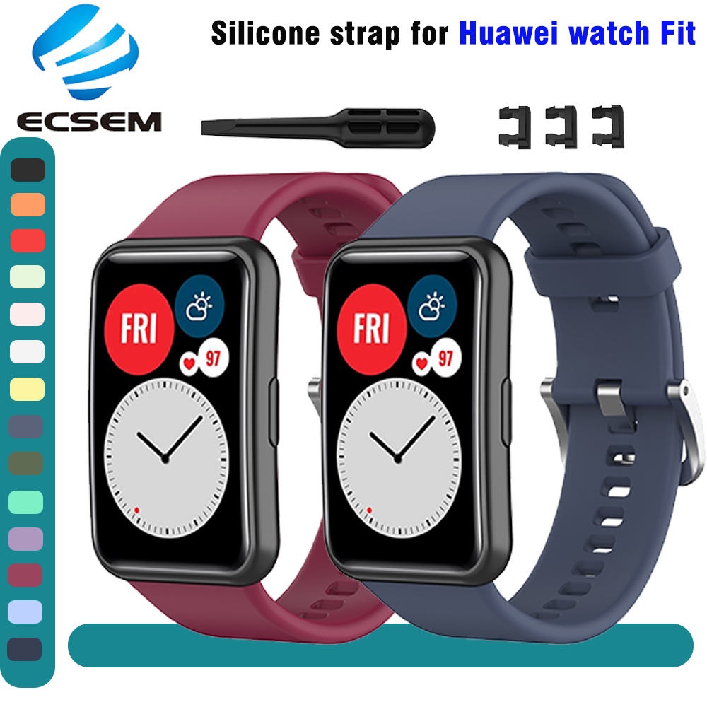 wrist strap for Huawei watch fit accessories replacement silicone adjustable wrist band for huawei fit bracelet loop soft strap