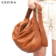 CEZIRA Women Bags Buckle Shoulder-Bag School-Handbag Messenger Girl Soft Ladies Casual