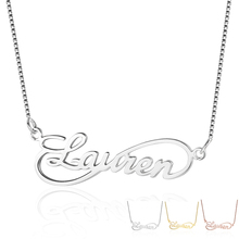Infinity Love Name Engrave Necklace 8 Shape Personalized 925 Sterling Silver Lovers Gift (NE101629)