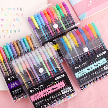 12/18/24/36/48 Colors Gel Pens Set Glitter Gel Pen for Adult Coloring Books Journals Drawing Doodling Art Markers 1