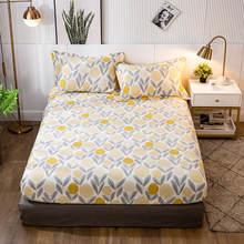 100% bawełniane łóżko pościel Queen/duży rozmiar prześcieradło z gumką żółta kolorowa bawełniana ochraniacz na materac podwójne prześcieradła