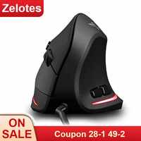 T-20 4 Recarregável Do Mouse Com Fio do Mouse Vertical Ergonômico 3200 DPI Gaming Mouse para Mac PC Portátil Computador Portátil Opcional