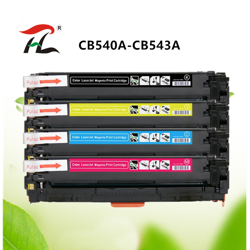 4PK Toner Cartridge CB540A 125A Color Set For HP Laserjet CM1312n CP1215 CP1515n