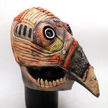 Hot Sale Explosions Halloween Raven Head Animal Latex Steampunk Plague Beak Doctor Bird Skeleton Crow Mask props
