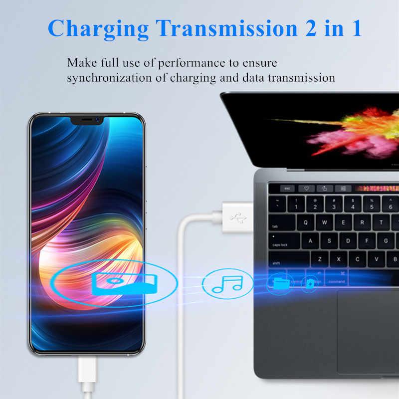 LOVECOM المصغّر USB كابل 3A سريع تهمة USB كابل بيانات لسامسونج شاومي 4X 4A 5A نوت 4 HTC LG أندرويد الهاتف USB كابل شحن