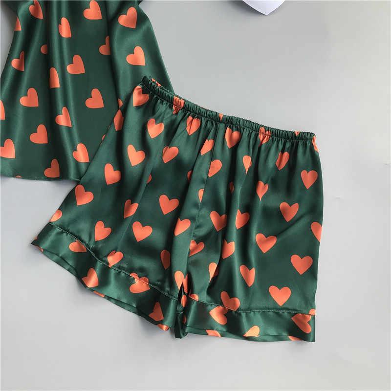 Pyjamas Sets Ärmel Floral Nachtwäsche Pijama Feminino Sexy Dessous Unterwäsche Zwei Stück Set Schlafanzug Für Frauen M-XL