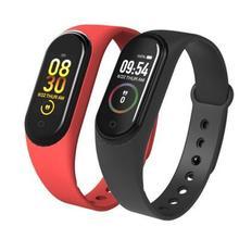 M4 الذكية الفرقة جهاز تعقب للياقة البدنية ساعة الرياضة سوار معدل ضربات القلب ضغط الدم Smartband رصد الصحة جهاز مراقبة اللياقة على شكل سوار يد