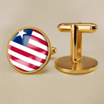 Coat of Arms of Liberia Liberians Flag National Emblem Cufflinks image