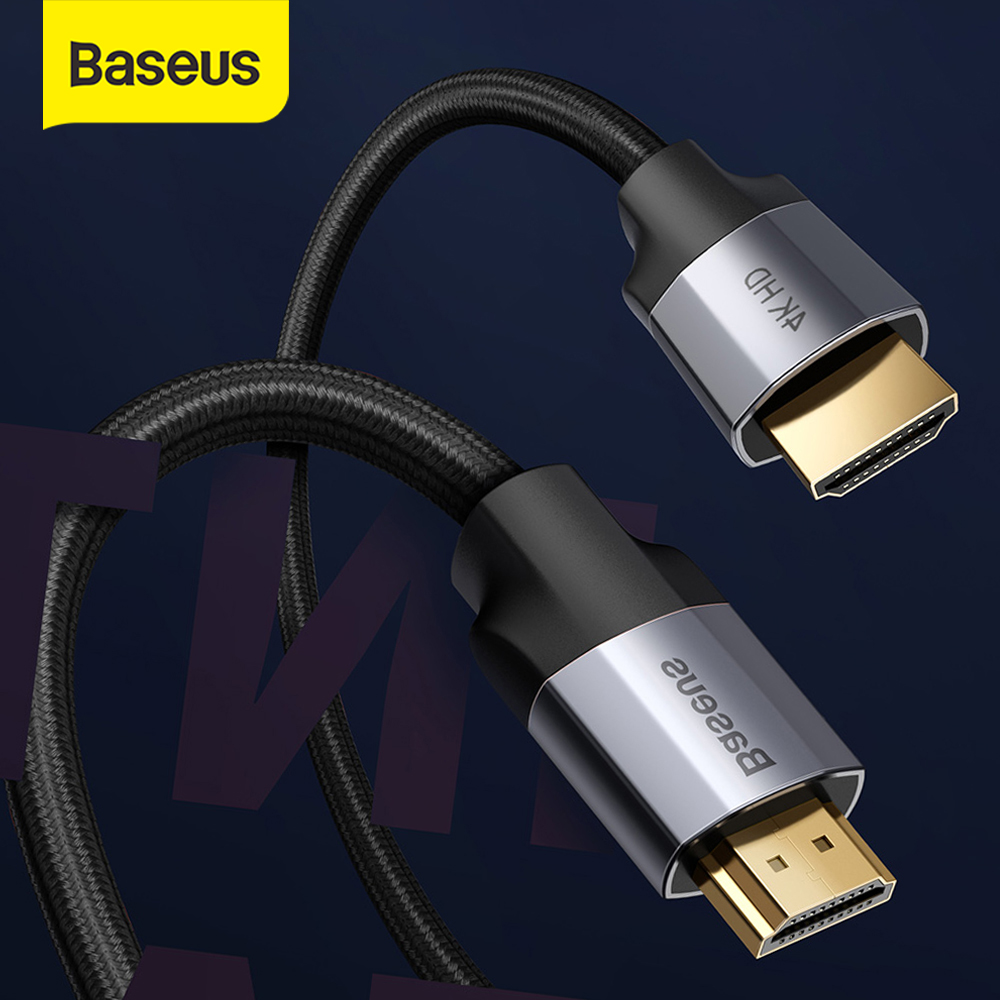 Baseus HDMI Cable 4K 60HZ HDMI To HDMI 2.0 Extension Splitter Cable For TV Switch Projector Laptop Office Video Cable HDMI