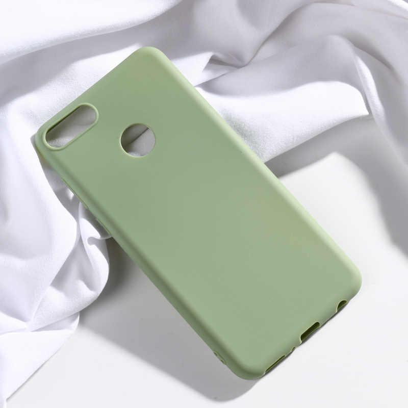 Huawei enjoy 6s 7 8 Artı 7s 8e 9 9s Onur 10 lite 20 pro 8s 8A 6A 6X 7X V10 V20 Kılıfı Şeker Renk Yumuşak Silikon kapak