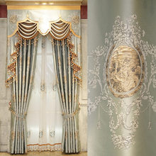 European palace restoring ancient ways is embossed embroidery cloth curtain villa sitting room bedroom study is available(China)