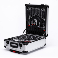 Hand Tool Set General Household Hand Tool Kit with Plastic Toolbox Storage Case Socket Wrench Screwdriver Knife F