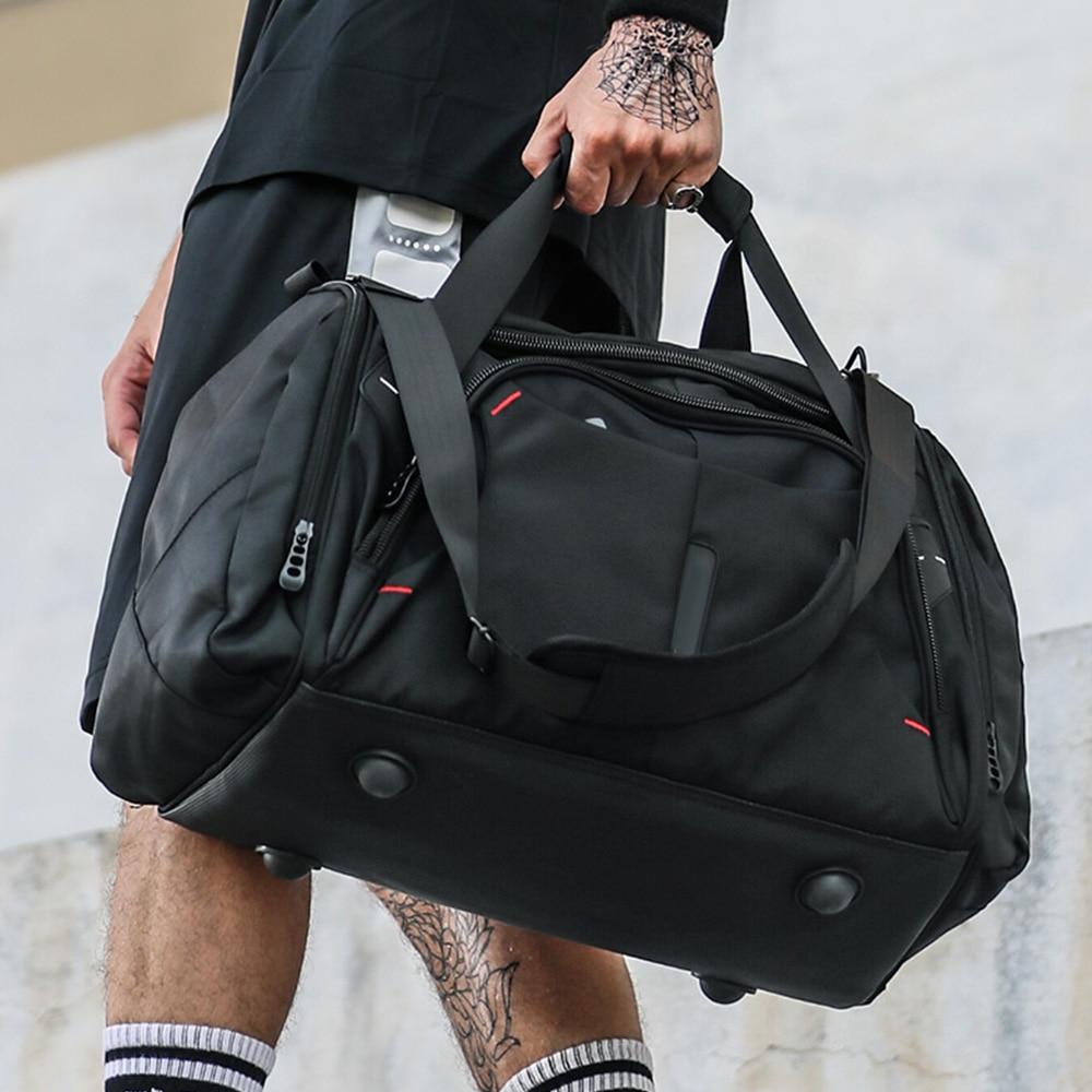 Waterproof Men Sports Gym Bags Multifunction Yoga Fitness Bag Travel Handbag Large Capacity Training Shoulder Duffle Bag