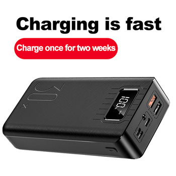 30000mAh Power Bank TypeC Micro USB QC Fast Charging Powerbank LED Display Portable External Battery Charger