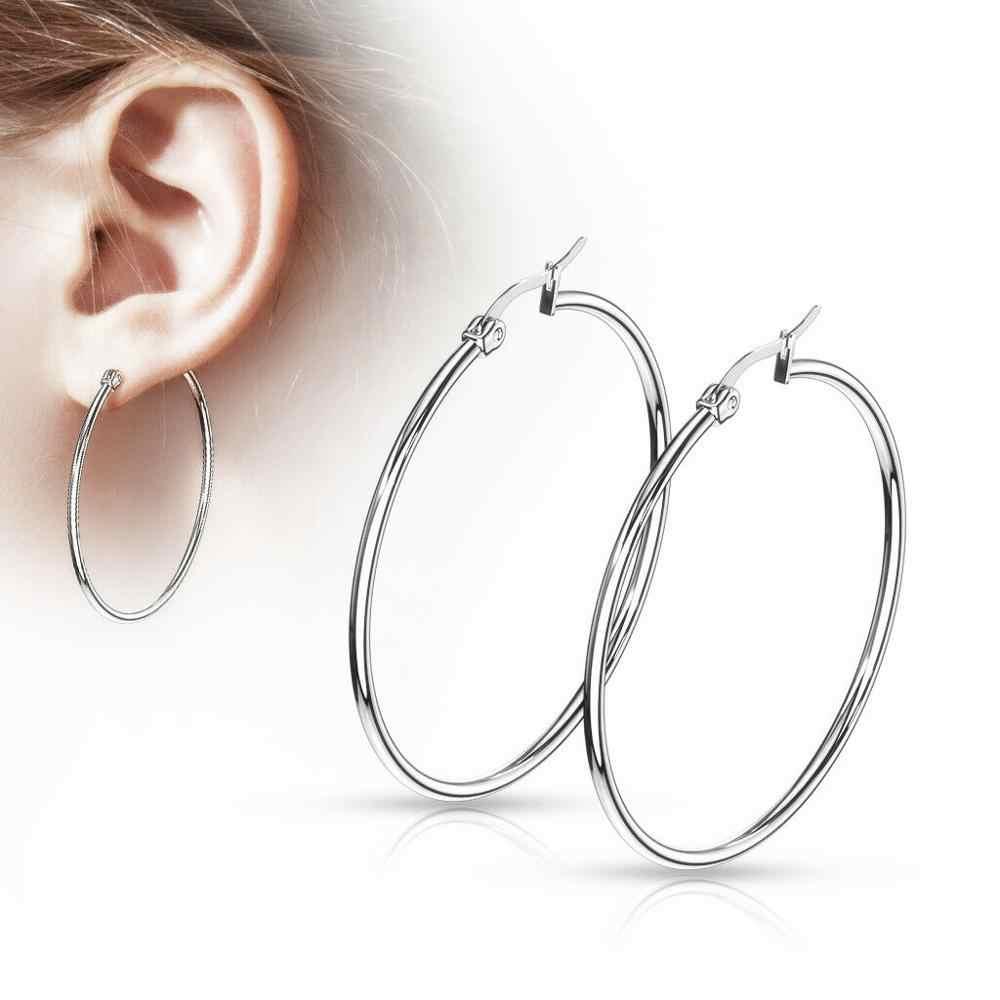 smallmedium hoops simple classic modern silver hoop earrings sterling silver plated 20mm 25mm 30mm