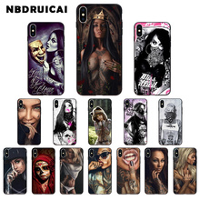 NBDRUICAI Sexy Girl Tattoo Cover TPU Soft Silicone Phone Case Cover for iPhone 11 pro XS MAX 8 7 6 6S Plus X 5 5S SE XR case nbdruicai black women art and little girl fashion phone case cover for iphone 11 pro xs max 8 7 6 6s plus x 5 5s se xr case