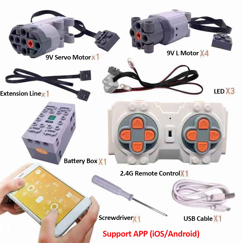 LE-J901 The Motor The Technic Train Remote Control Battery Box Switch With Led Light Power Function LE-J901 Spare Part