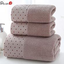 3 шт набор для ванной 100% Хлопковое полотенце толстое Впитывающее