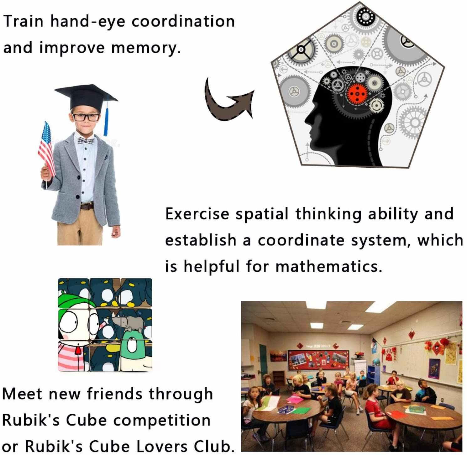 Куб Sa-rah-And-Du-ck третьего заказа, интеллектуальное развитие, творческая личность, дизайн кубика, Веселый интеллект