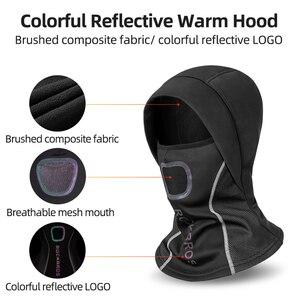 Image 3 - Зимняя Теплая Флисовая термомаска ROCKBROS с флисовой подкладкой, сохраняющая тепло, Ветрозащитная маска для лица, нагрудники для катания на лыжах, сноуборде и шеи