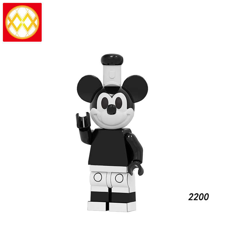 Single PG8279 Cartoon Building Blocks Pumping Series Bricks Scrooge McDuck Mickey Duck Daisy Chip 'n' Dale Dolls For Children