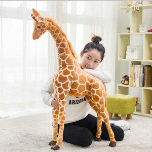 Image 5 - Giant size Giraffe Plush Toys Cute Stuffed Animal Soft Giraffe Doll Birthday Gift Kids Toy