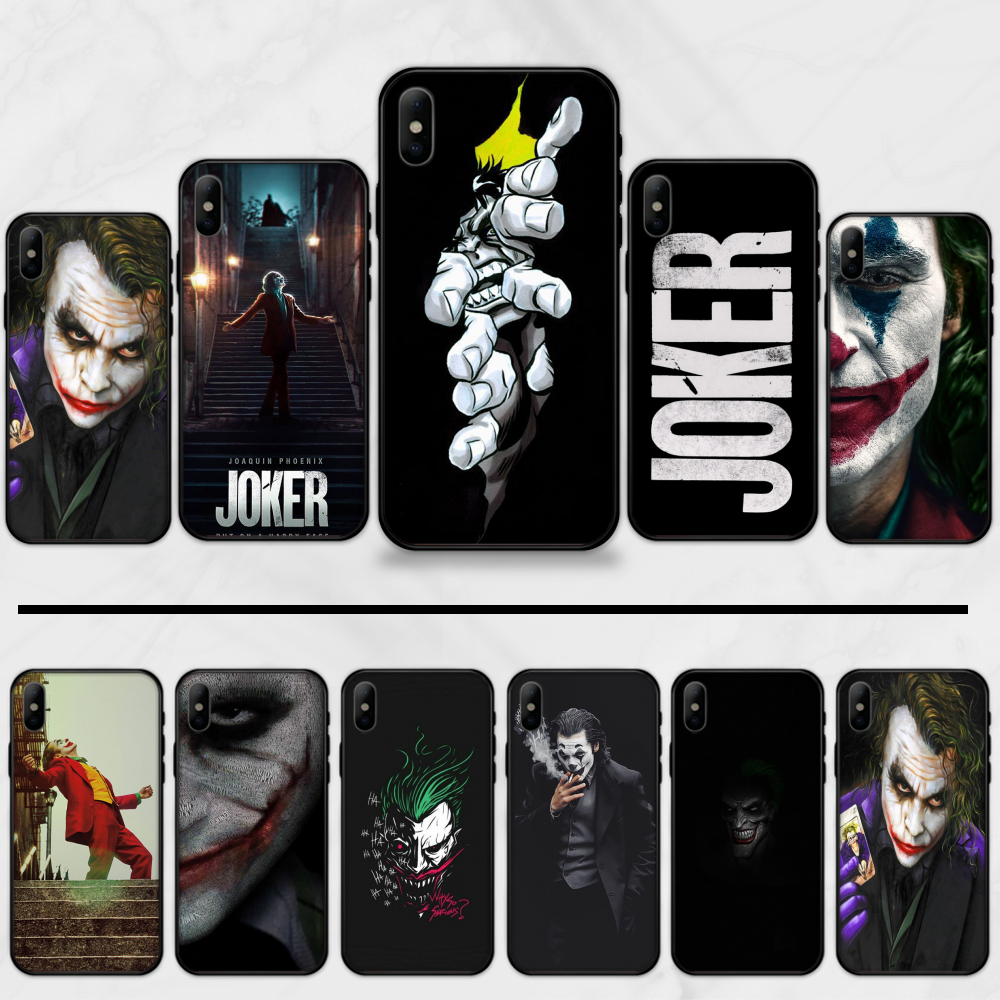 Joker Film Case Voor Iphone 11 Pro Max Tpu Black Phone Case Cover Coque Voor Iphone 7 5 5S se 5C 6 6S 8 Plus X Xs Xr 11 Pro Max