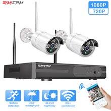 WiFi video monitoring ip CCTV security system camera 4ch nvr 2pcs 2MP IR-CUT outdoor Video surveillance wireless camera system