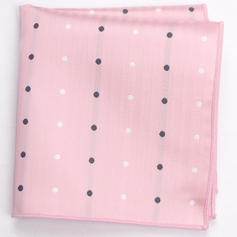 Pink Patterned Pocket Square With Patterns Handkerchief