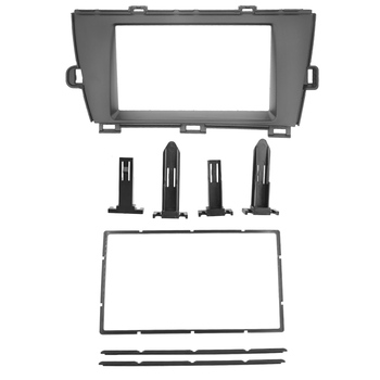 2Din LHD Car Radio Fascia Kit Stereo Mount Panel for Toyota Prius 2010+ Frame Audio Face Plate Surround Panel DVD GPS Bezel Kit image