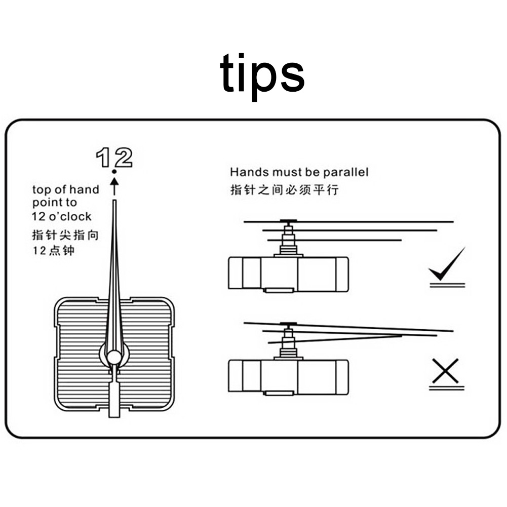 DIY Quartz Clock Movement Mechanism Repair Tool with Hands White#1