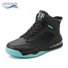 BONJEAN Men's Cushioning Basketball Sneakers Anti-skid Breathable Outdoor Sports Shoes Athletic Comfortable Basketball Shoes li ning men ln arc technology cushioning running shoes breathable sneakers anti skid lining autumn light sports shoes arhm051