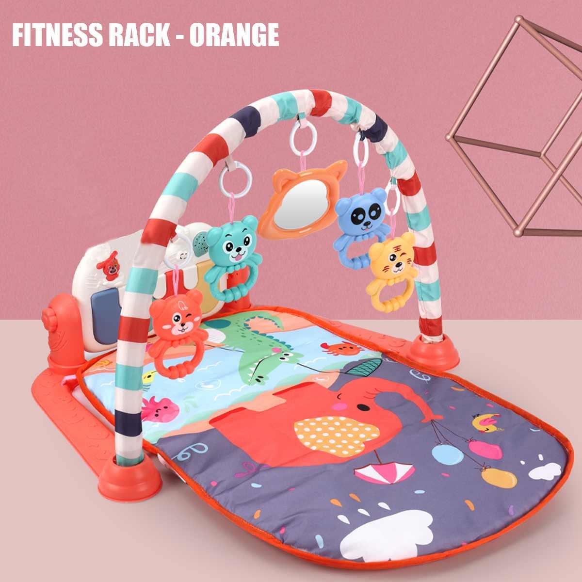 3 в 1 детский игровой коврик для тренажерного зала для фитнеса, музыки, фортепиано, подвесной игрушечный проектор, Ранняя образовательная го...