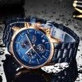 Новинка LIGE Топ люксовый бренд мужские часы кварцевые мужские часы дизайн спортивные часы водонепроницаемые синие наручные часы из нержаве...