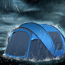 Outdoor large space 3-4 people tent rainproof windproof camping automatic speed open hand throw
