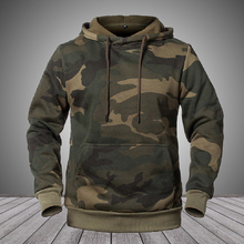 Men's Hoodies Camo Hip Hop Casual Sweatshirts 2020 Winter Camouflage Hoody Streetwear Pullover Thick Warm Clothing Male EUR Size