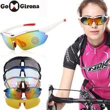 GOMGIRONA 1 Set 5 Lens Polarized Cycling Sunglasses Anti-UV Outdoor Spo