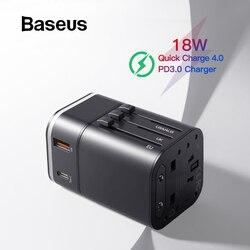 Baseus 18 w viagem ue carregador usb carga rápida 3.0 para samsung carregador de telefone USB-C pd 3.0 carregador rápido para iphone 11 pro