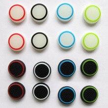 4 개/몫 실리콘 Anti slip 조이스틱 커버 이중 색상 빛나는 Gamepad 엄지 손가락 그립 PS3 PS4 XBOX ONE 360