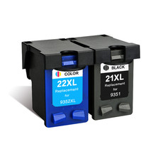 GIAUSA Refill 21 22 XL Ink Cartridge Replacement for HP 21 22 HP21 HP22 21XL 22XL Deskjet F2180 F2280 F4180 F380 380 Printer
