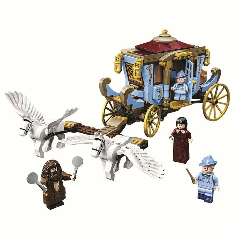 Beauxbatons Carriage Arrival At Hogwar Potter Building Blocks Model Bricks Toys Compatible Lepining 75958 Bricks Toys